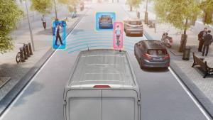 Ford Transit Kollisionswarner mit Fußgängererkennung