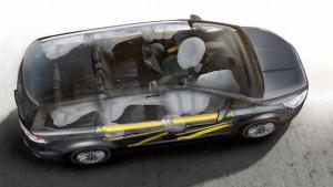 Airbags in einem Galaxy werden angezeigt